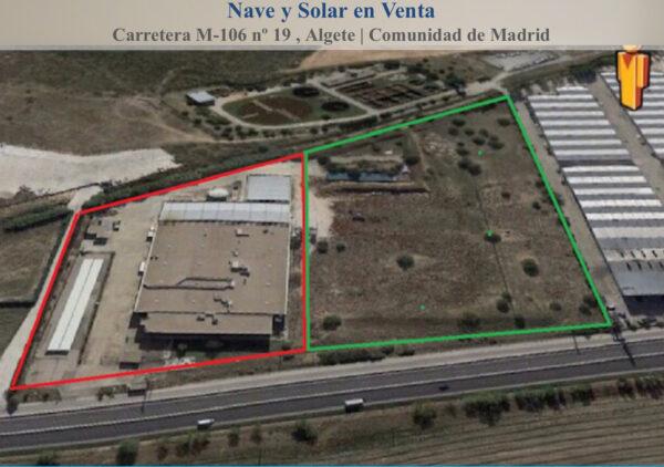 SOLAR y NAVE INDUSTRIAL en VENTA en ALGETE (MADRID)
